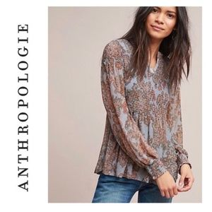 ANTHROPOLOGIE | Akemi + Kin Smocked Adria Peasant